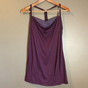 Lululemon dark purple halter tank top